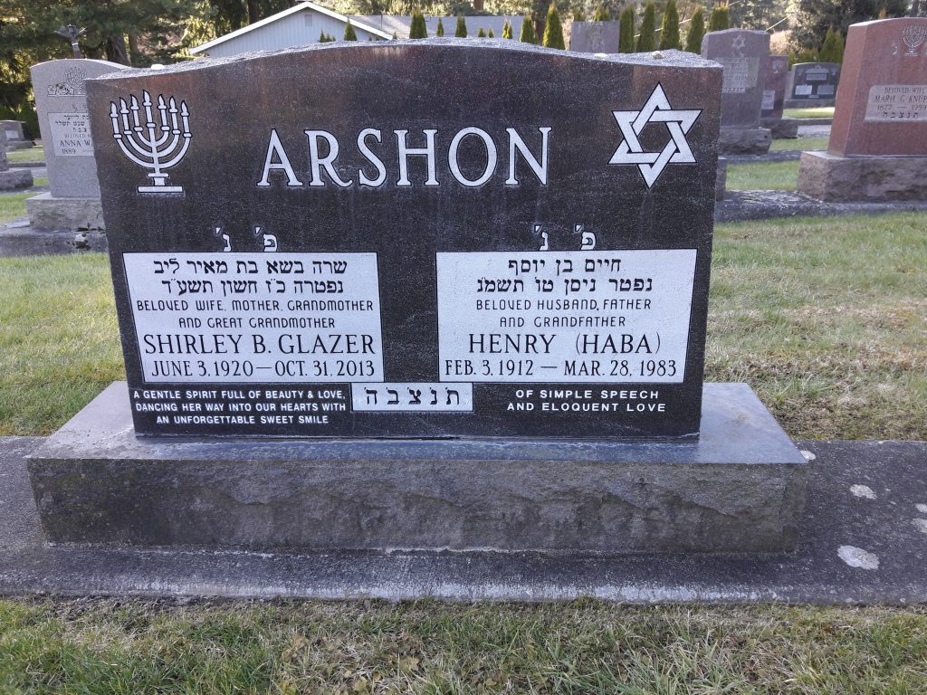 Arshon Shirley B. Glazer and Henry Haba
